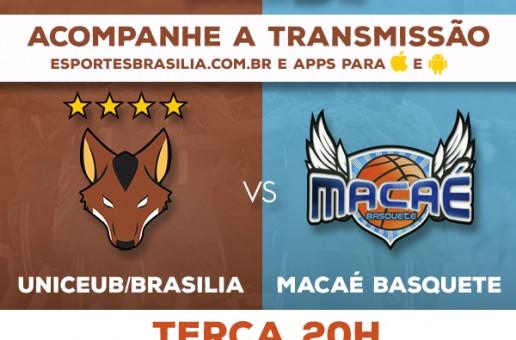 Novo Basquete Brasil – UniCEUB/Brasília x Macaé Basquete